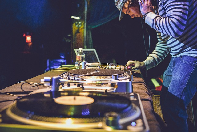 DJ playing at an event