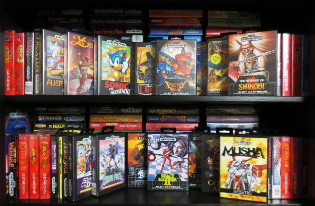A retro game collection