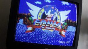 Sonic The Hedgehog vintage video game