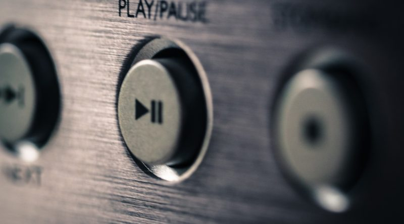 The Play/Pause button on a music player