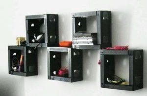 VHS Tapes on shelves