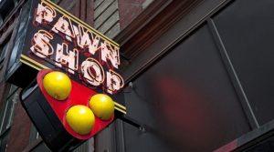 A pawn shop store front