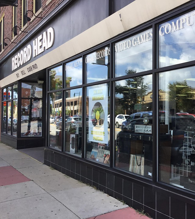 Record head store front on angle