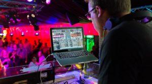 DJ performing at a party