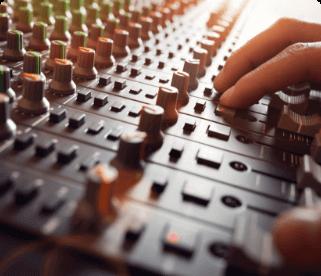 Recording studio soundboard