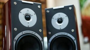 close up of two Audiovector speakers