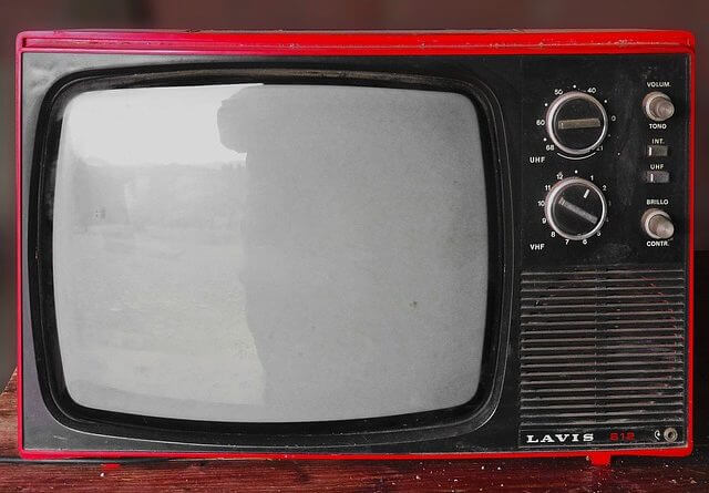 Vintage red television set