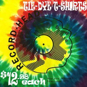 Record Head Tie Dye Tshirt